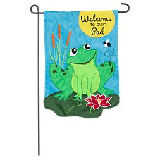 Evergreen Welcome to Our Pad Garden Flag