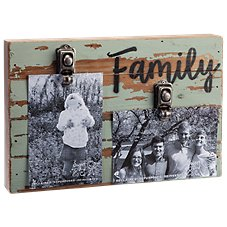 Sweet Bird & Co. Family Reclaimed Wood Clip Frame