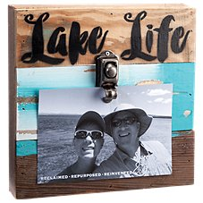 Sweet Bird & Co. Lake Life Reclaimed Wood Clip Frame