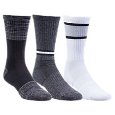 Under Armour Phenom Twisted 2.0 Crew Socks for Men - 3-Pair Pack