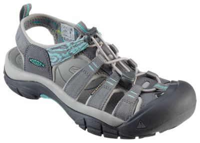 Keen Newport Hydro Water Shoes for Ladies - Steel Grey/Turquoise - 6.5M