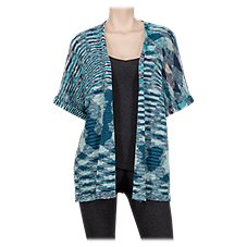 Natural Reflections Space Dye Kimono Sweater for Ladies