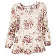 Bob Timberlake Printed Peasant Blouse for Ladies