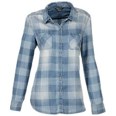 Natural Reflections Button-Down Chambray Shirt for Ladies