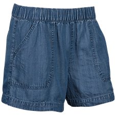 Natural Reflections Pull-On Chambray Shorts for Ladies