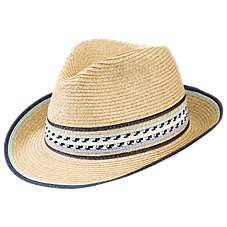 Quagga Mojito Straw Fedora for Ladies