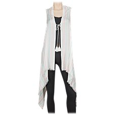 Quagga Sugar Crochet Trim Vest for Ladies