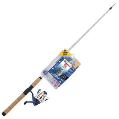Shakespeare Catch More Fish Spinning Rod and Reel Combo for Lake/Pond Fish – Model CMF2LAKEPOND