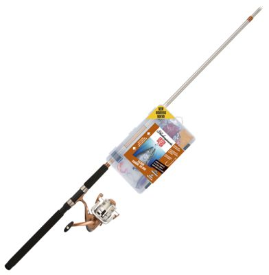 Shakespeare Catch More Fish Spinning Rod and Reel Combo for Salmon – Model CMF2SALMON