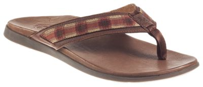 Chaco Marshall Leather Sandals for Men - Tartan Rust - 10M