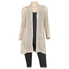 Natural Reflections Scalloped Hem Cardigan for Ladies