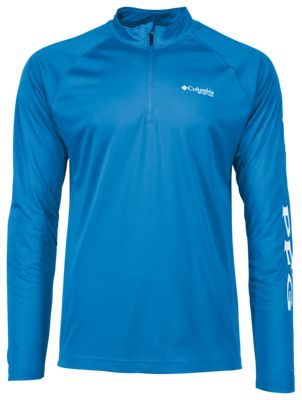 c9328aa4a6c Columbia Terminal Tackle 14 Zip Pullover for Men Blue Chill XL