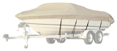 Taylor Made BoatGuard Universal-Fit Trailerable Boat Cover - Grey - V-Hull Runabout - 17' to 19'