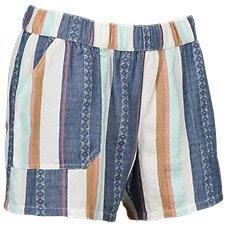 Natural Reflection Stripe Soft Shorts for Ladies
