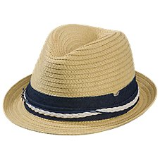 Dorfman Pacific Braided Fedora for Ladies