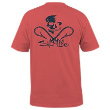 1acc45f1e840 Salt Life Skull and Hooks Pocket T-Shirt for Men