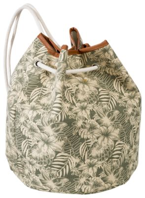 Dorfman Pacific Hibiscus Drawstring Backpack by
