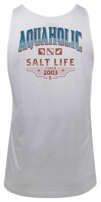 b6de5bc92c55 Salt Life Aquaholic Tank for Men White M