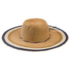 Dorfman Pacific Striped Toyo Straw Hat for Ladies