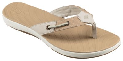 046771cf1 Sperry Seabrook Surf Two Tone Thong Sandals for Ladies Linen 8 M