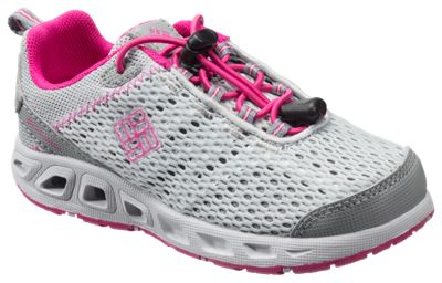 f80aac5a243a Columbia Drainmaker III Water Shoes for Toddlers or Kids Grey IceHaute Pink  11 Kids
