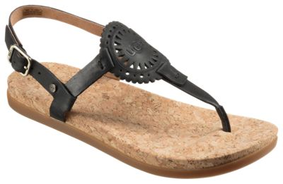 Ayden Ugg Ii Black Thong For Ladies Sandals 6m XOuiPkZ
