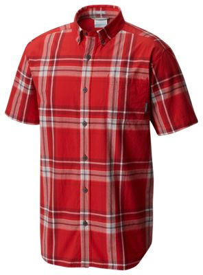 51a005cda67 Columbia Rapid Rivers II Shirt for Men Red Spark Large Plaid 2XL