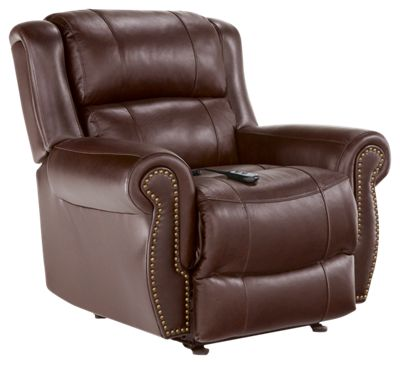Terrill Power Space Saver Recliner - Tobacco