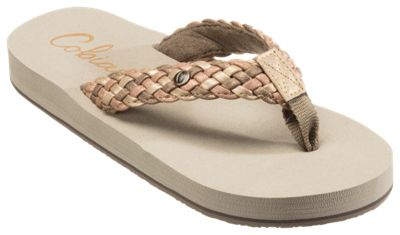 For 9m Ladies Cobian Braided Bounce Sandals Gold XOkZiuPT