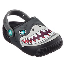 Crocs Fun Lab Lights Shark Clogs for Toddlers or Kids