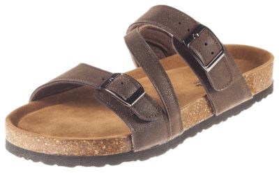 Natural Reflections Melanie Buckle Sandals for Ladies - Brown - 11M
