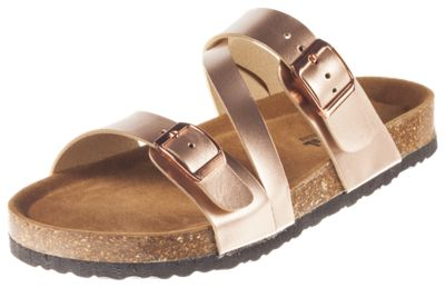 Natural Reflections Melanie Buckle Sandals for Ladies - Rose Gold - 8M