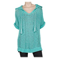 Natural Reflections Open-Knit Pullover for Ladies