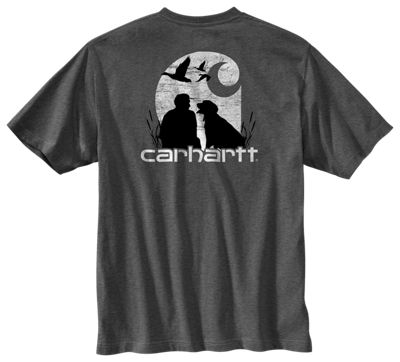 75ee8257ddfe Carhartt Workwear Duck Hunting Pocket T Shirt for Men Granite Heather XL