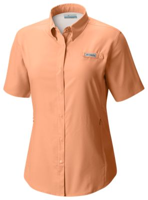 36ccb95438a Columbia PFG Tamiami II Short Sleeve Shirt for Ladies Light Juice XS