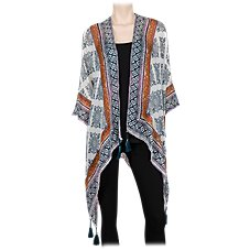 Quagga Tribal Print Ruana for Ladies