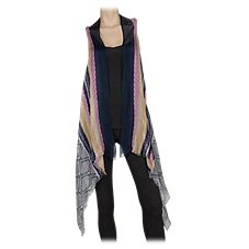 Quagga Vertical Stripe Vest for Ladies