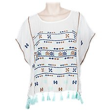 Quagga Aztec Fringe Top for Ladies