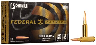 Federal Premium Berger Centerfire Rifle Ammo – 6.5 Creedmoor