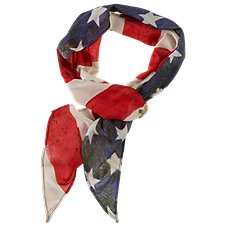 Quagga Vintage Flag Scarf for Ladies