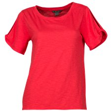 Natural Reflections Twist Sleeve Top for Ladies
