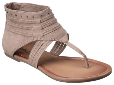 Natural Reflections Karamie Toe Post Sandals for Ladies - Taupe - 10 M