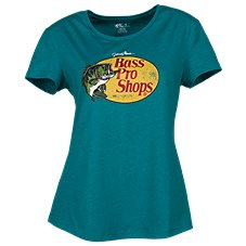 Bass Pro Shops Woodcut Logo T-Shirt for Ladies