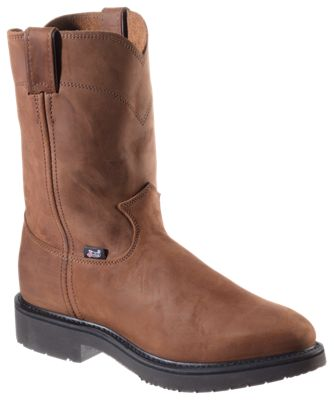 d64b8334aa Justin Conductor Pull On Work Boots for Men Aged Bark 15W