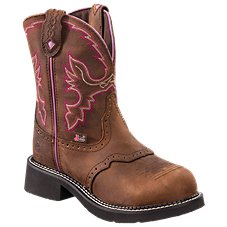 Justin Wannette Steel Toe Western Work Boots for Ladies