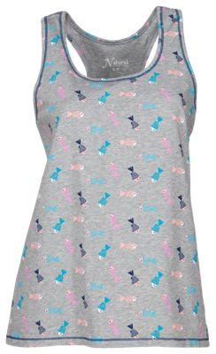 Natural Reflections Kiss My Bass Tossed Print Tank Top for Ladies - Multi - L