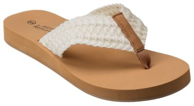 Sandals Ladies Flip Shelly For Natural Reflections White 6m 2DH9EI
