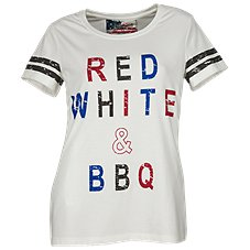 Natural Reflections Red White and BBQ T-Shirt for Ladies