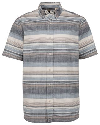 RedHead Crosshatch Striped Shirt for Men – Brown – L