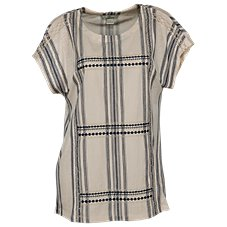 Bob Timberlake Striped Embroidered Dolman Top for Ladies